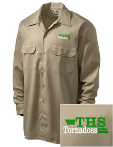 Turner High School Tornadoes Embroidered Dickies Men's Long-Sleeve Workshirt