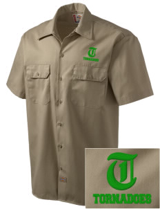Turner High School Tornadoes Embroidered Dickies Men's Short-Sleeve Workshirt