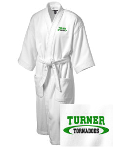 Turner High School Tornadoes Embroidered Terry Velour Robe