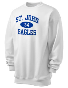 Saint John Elementary School Eagles Men's 7.8 oz Lightweight Crewneck Sweatshirt