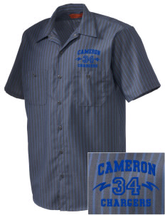Cameron Elementary School Chargers Embroidered Men's Cornerstone Industrial Short Sleeve Work Shirt
