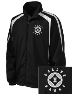 Holder Elementary School Hawks Embroidered Men's Colorblock Raglan Jacket