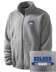 Holder Elementary School Hawks Embroidered Men's Fleece Jacket