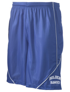 "Holder Elementary School Hawks Men's Pocicharge Mesh Reversible Short, 9"" Inseam"