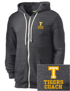 Tilton Elementary School Tigers Embroidered Alternative Men's Rocky Zip Hooded Sweatshirt