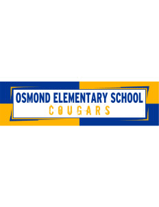 "Osmond Elementary School Cougars Bumper Sticker 11"" x 3"""