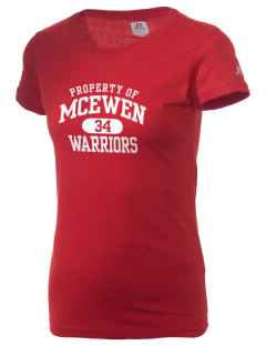 McEwen Middle School Warriors  Russell Women's Campus T-Shirt