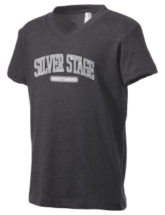 Silver Stage High School Nighthawks Kid's V-Neck Jersey T-Shirt