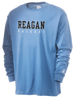 REAGAN HIGH SCHOOL Raiders  Russell Men's Long Sleeve T-Shirt