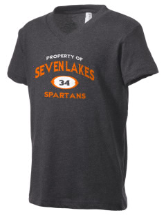 Seven Lakes High School Spartans Kid's V-Neck Jersey T-Shirt