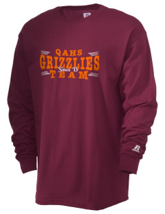 Queen Anne High School Grizzlies  Russell Men's Long Sleeve T-Shirt