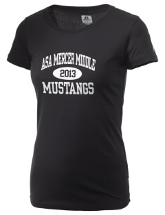 Asa Mercer Middle High Mustangs  Russell Women's Campus T-Shirt