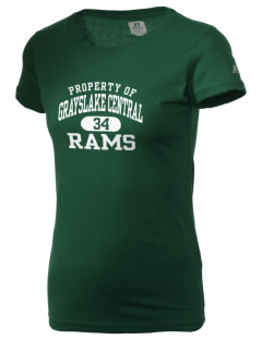 Grayslake Central High School Rams  Russell Women's Campus T-Shirt
