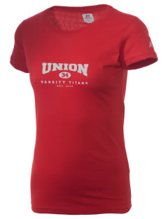 Union High School Titans  Russell Women's Campus T-Shirt