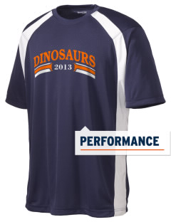 Pleasant Hill Elementary Dinosaurs Men's Dry Zone Colorblock T-Shirt