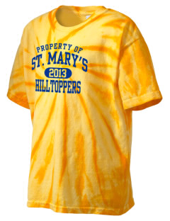 Saint Mary's High School Hilltoppers Kid's Tie-Dye T-Shirt