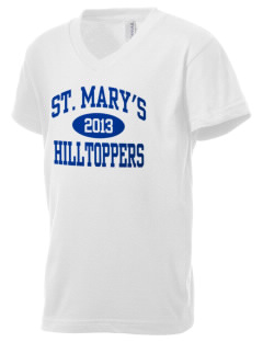 Saint Mary's High School Hilltoppers Kid's V-Neck Jersey T-Shirt