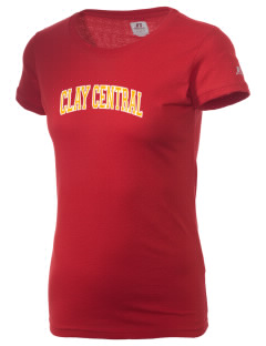 Clay Central School Meadowlarks  Russell Women's Campus T-Shirt