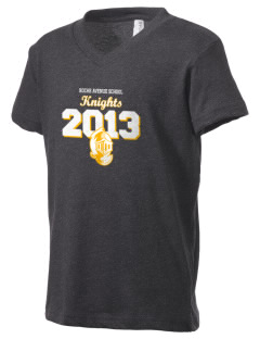 Roche Avenue School Knights Kid's V-Neck Jersey T-Shirt