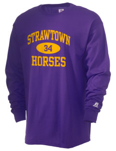 Strawtown Elementary School Horses  Russell Men's Long Sleeve T-Shirt