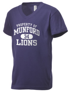 Munford High School Lions Kid's V-Neck Jersey T-Shirt