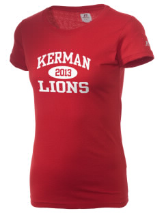 Kerman High School Lions  Russell Women's Campus T-Shirt