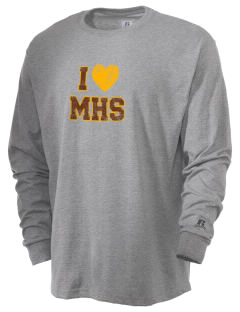 McCorristin Catholic High School Iron Mike  Russell Men's Long Sleeve T-Shirt