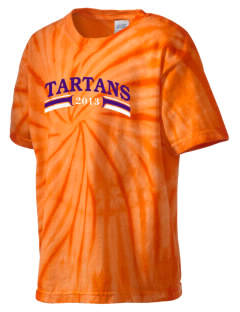 Academy Of The Holy Cross School Tartans Kid's Tie-Dye T-Shirt