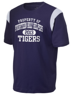Fourteen Holy Helpers School Tigers Holloway Men's Rush T-Shirt