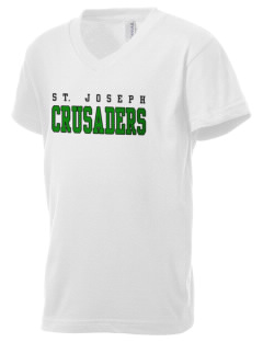 St. Joseph School Crusaders Kid's V-Neck Jersey T-Shirt