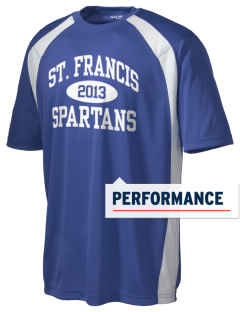 St. Francis High School Spartans Men's Dry Zone Colorblock T-Shirt
