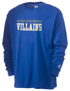 Bishop McGuinness Catholic High School Villains  Russell Men's Long Sleeve T-Shirt