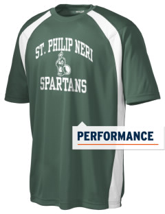 Saint Philip Neri School Spartans Men's Dry Zone Colorblock T-Shirt