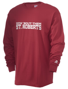 Saint Robert Bellarmine School St. Roberts  Russell Men's Long Sleeve T-Shirt