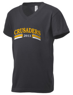 Saint Anthony School Crusaders Kid's V-Neck Jersey T-Shirt