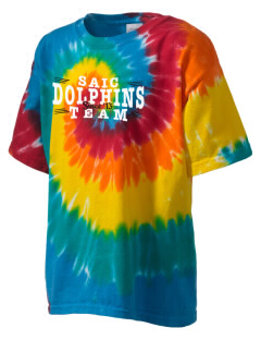 Saint Anthony Immaculate Conception Dolphins Kid's Tie-Dye T-Shirt