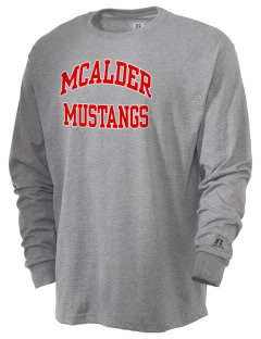 McAlder Elementary School Mustangs  Russell Men's Long Sleeve T-Shirt