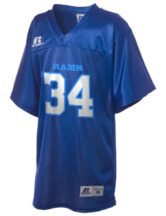 Rogers High School Rams Russell Kid's Replica Football Jersey