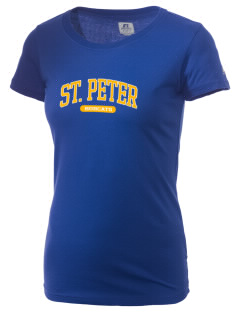 Saint Peter School Bobcats  Russell Women's Campus T-Shirt