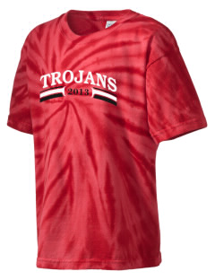 Saint John The Baptist School Trojans Kid's Tie-Dye T-Shirt
