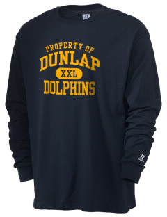 Dunlap Elementary School Dolphins  Russell Men's Long Sleeve T-Shirt