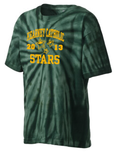Kearney Catholic High School Stars Kid's Tie-Dye T-Shirt