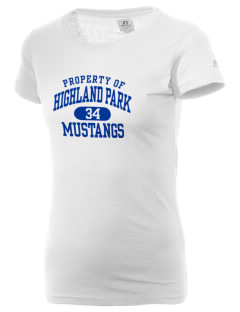 Highland Park Elementary School Mustangs  Russell Women's Campus T-Shirt