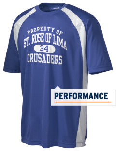 Saint Rose Of Lima School Crusaders Men's Dry Zone Colorblock T-Shirt