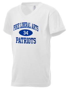 Pike Liberal Arts School Patriots Kid's V-Neck Jersey T-Shirt