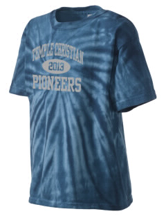 Temple Christian School Pioneers Kid's Tie-Dye T-Shirt