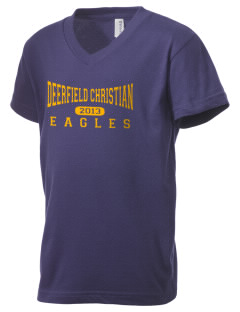 Deerfield Christian Academy Eagles Kid's V-Neck Jersey T-Shirt