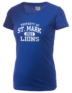 Saint Mark Lutheran School Lions  Russell Women's Campus T-Shirt
