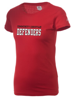 Community Christian Academy Defenders  Russell Women's Campus T-Shirt