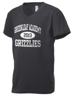Greenleaf Friends Academy Grizzlies Kid's V-Neck Jersey T-Shirt